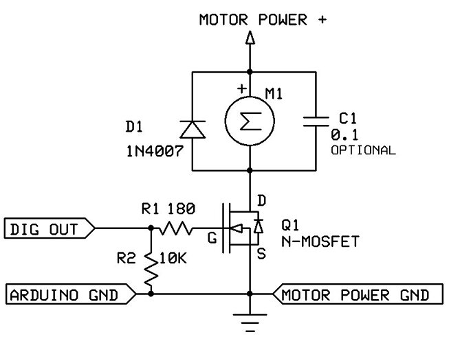 mosfet motor driver