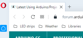 new arduino forum webpage number on tab