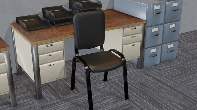 chair and second desk