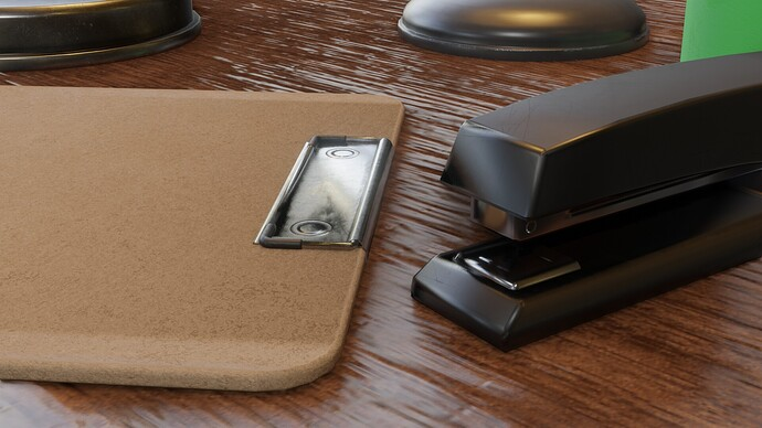 stapler and clipboard