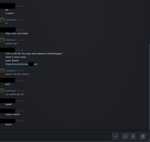 steam phisher dialogue