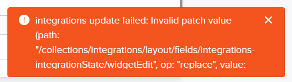 Invalid patch value