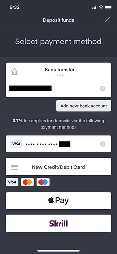 Add new bank account