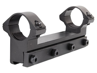 """RWS Lock Down Scope Mount with Integral 1"""" Rings Rimfire and Airgun Gloss"""