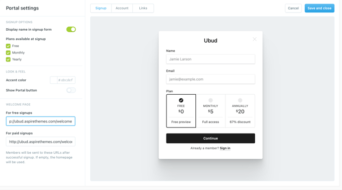 Creating Ghost Custom Welcome Pages on Members Signup