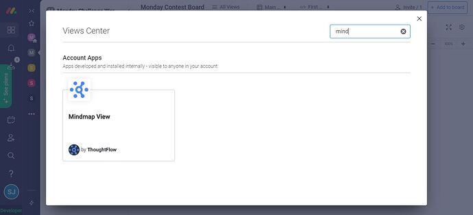 MindMap View in Views Center