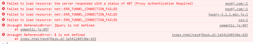 Neo4j Database Analyzer App Error 2019-12