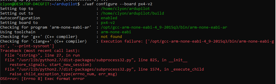 Difficulties Compiling - BlueROV2 and ArduSub - Blue