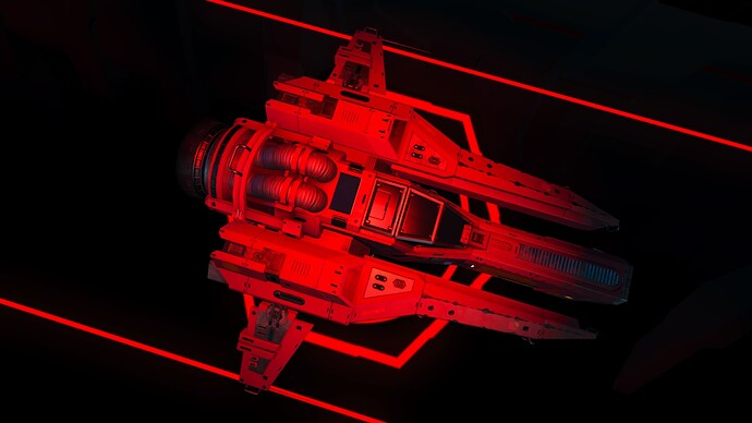 Wicked Red SHip Abandon Space Station