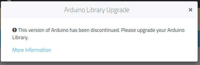 Arduino Library Upgrade