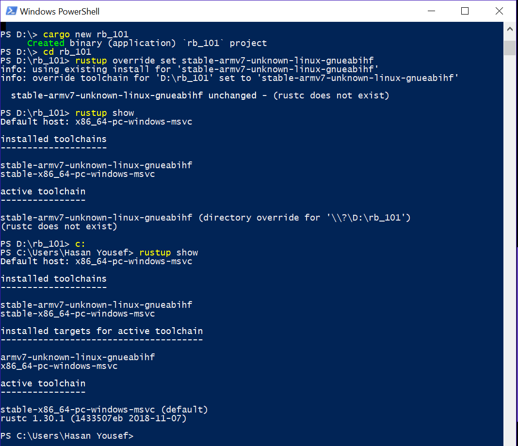 Building for Raspberry from Windows 10 - help - The Rust