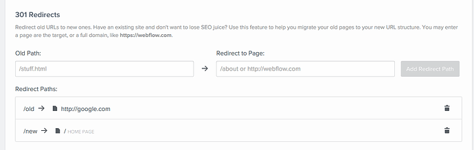 Page Redirect to External Domain - Official Announcements