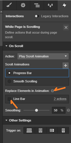 replace elements in animation