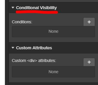 Conditional Visibility
