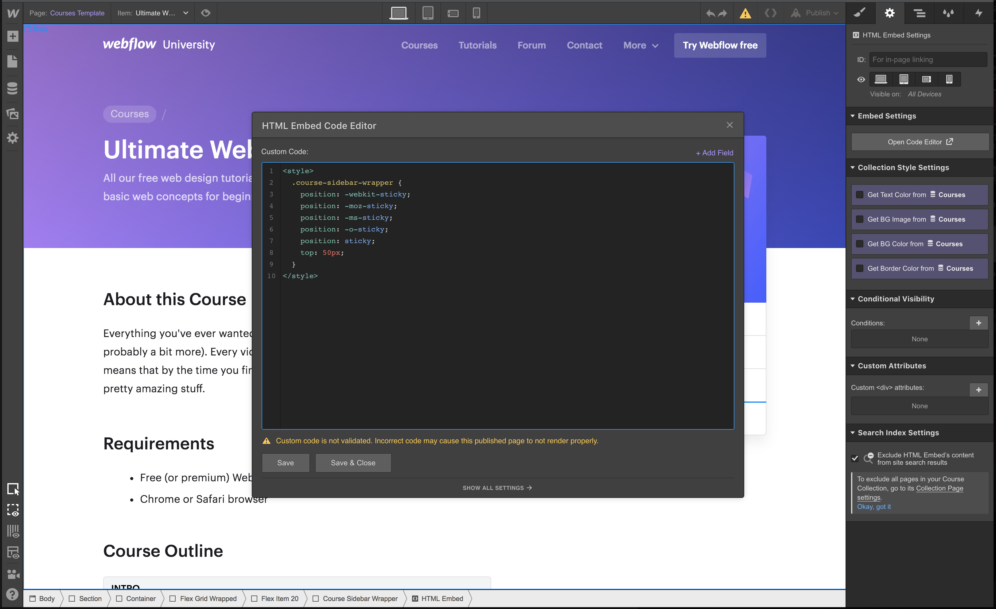How to create Sticky element on Scroll - Interactions - Webflow Forums