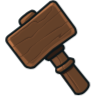 Wooden Builder's Hammer