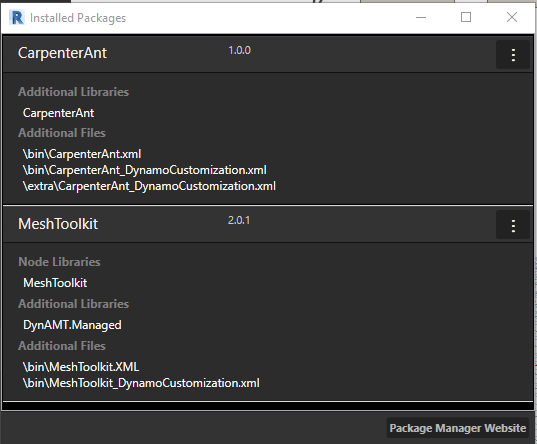 Dynamo Package Manager Comparison