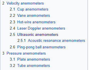 Types of Anemmeter