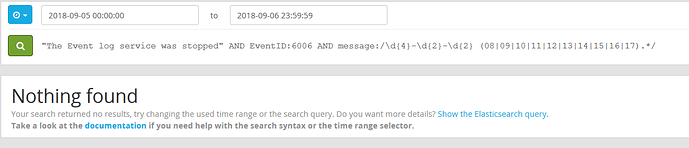 Graylog query with regular expression to filter working