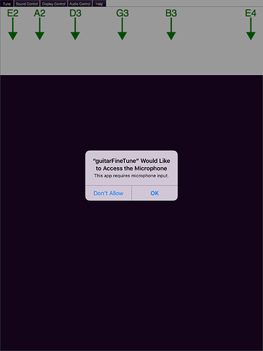 iOS: problem requesting access to microphone - MacOSX and