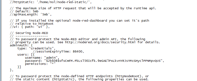 adminAuth)unable to login node-red - General - Node-RED Forum