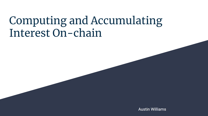 Computing and Accumulating Interest On-Chain