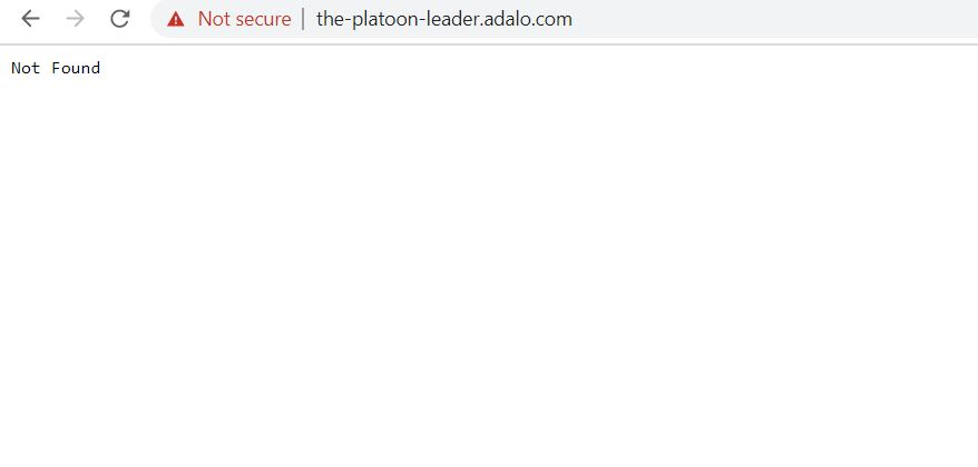 Subdomain not found