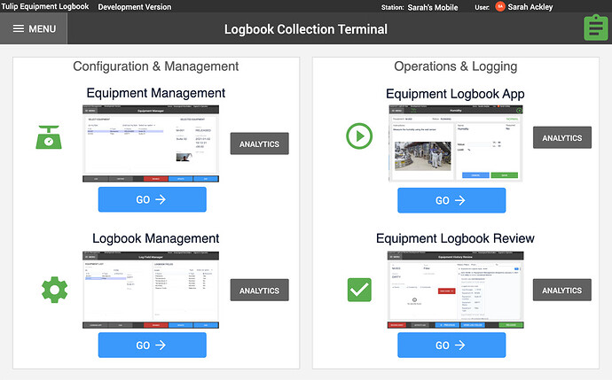 Equipment Logbook App Suite