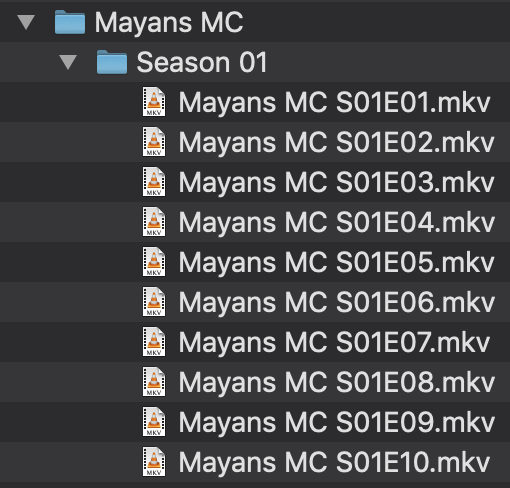 Mayans MC File Structure