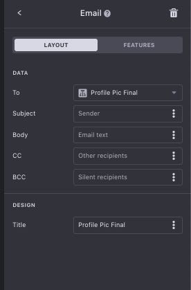 email component