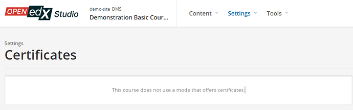 certificates page