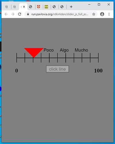 slider reduced size screen