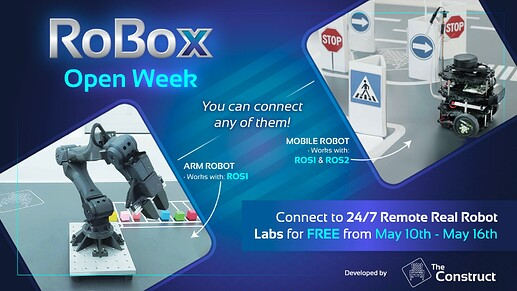 The Construct 24:7 remote real robot labs open week