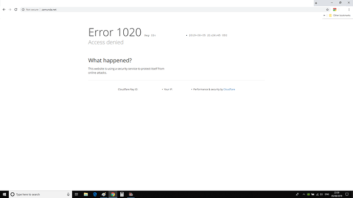 Error 1020 by Cloudflare - Security - Cloudflare Community