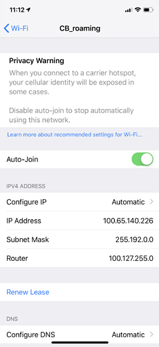 CB_roaming SSID - Security - Cloudflare Community