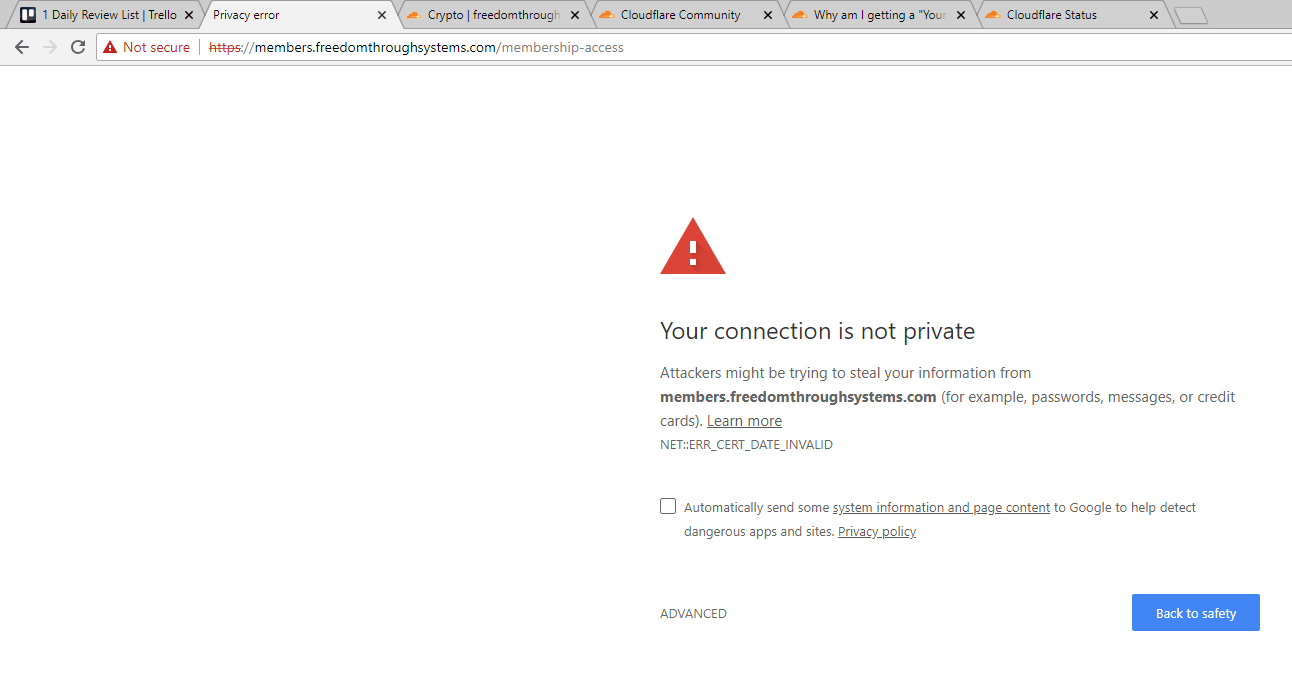 Privacy error with active SSL - Security - Cloudflare Community
