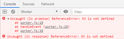 cache not defined