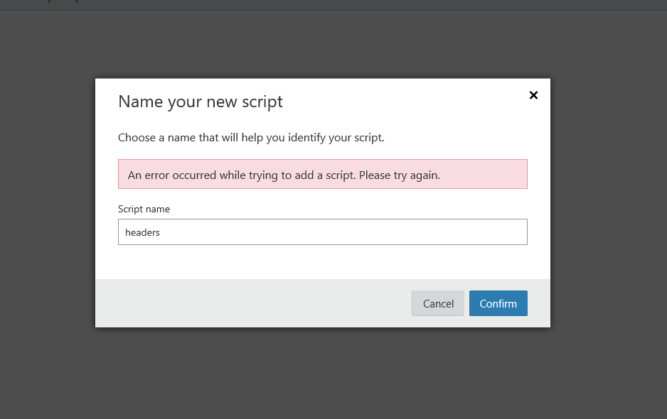 Error when adding script in Workers - Workers - Cloudflare Community