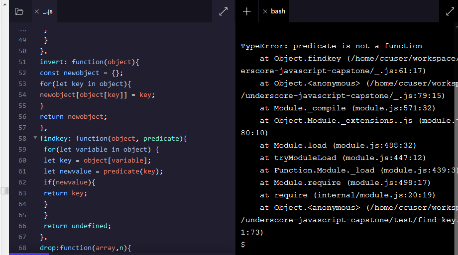 Screenshot_2020-11-17 Practice JavaScript Syntax Arrays, Loops, Objects, Iterators Codecademy