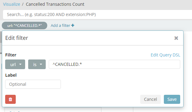 Kibana filter regex 'string starts with' doesn't work