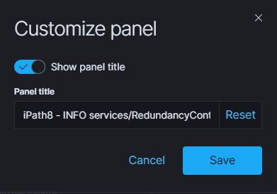 customize panel repeated action