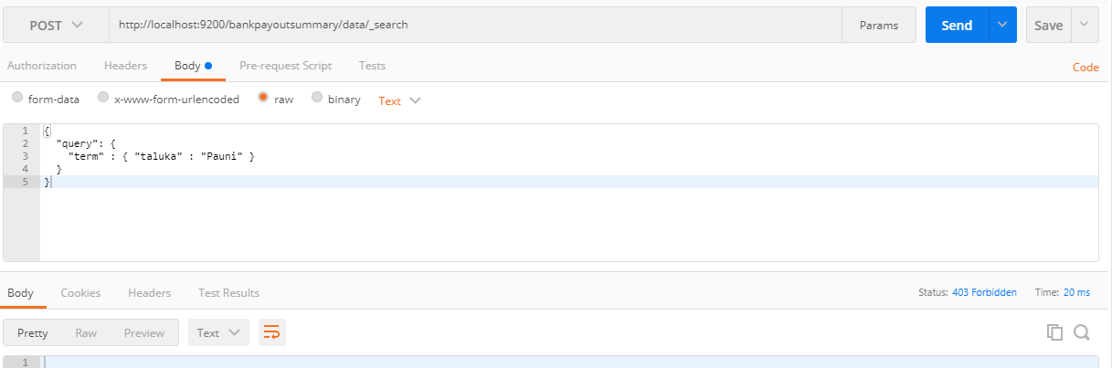Issue in POST request to Elastic Search using Nest in  NET