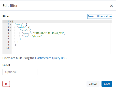 Date filter is not working in kibana using DSL query