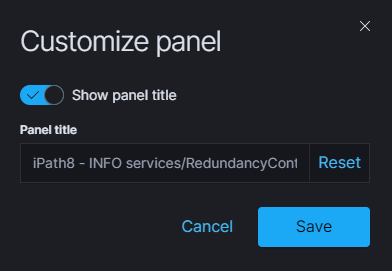 customize panel first time action
