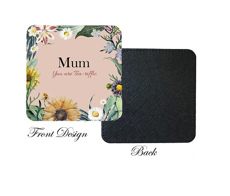 Front and Back Coaster mum