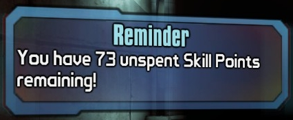 Reminder that I have 73 unspent skill points.