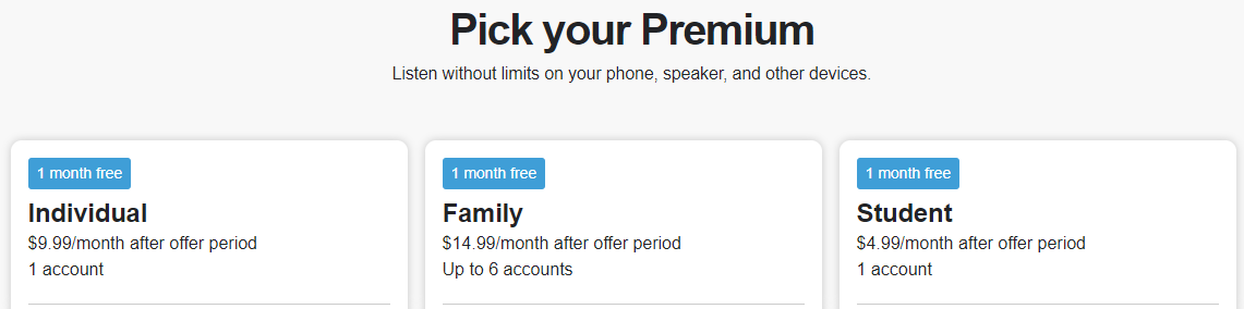 spotify subscription
