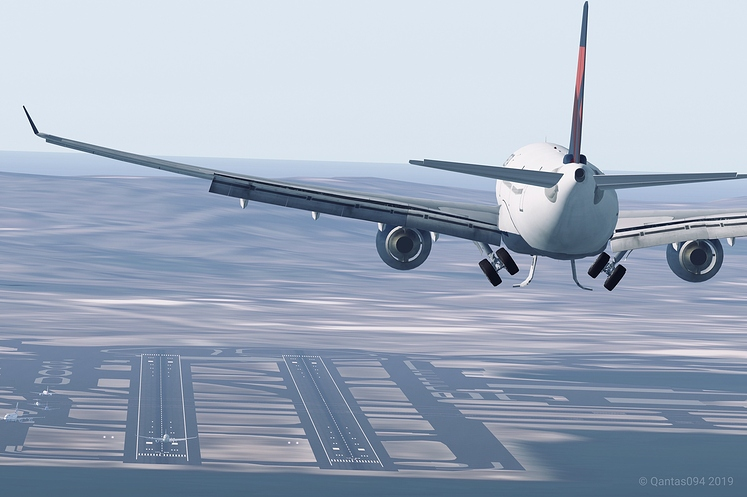 Delta Air Lines A333 on Final at SFO