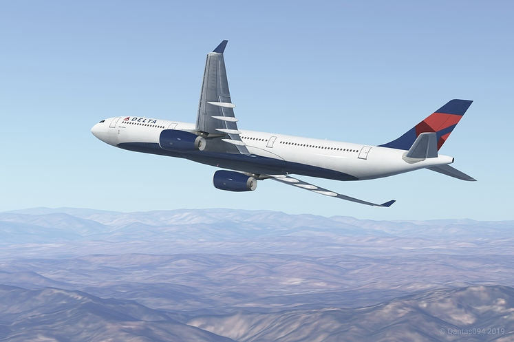 Delta Air Lines A333 Banking While Climbing