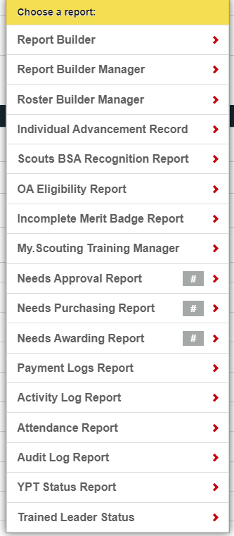 Scoutbook Reports